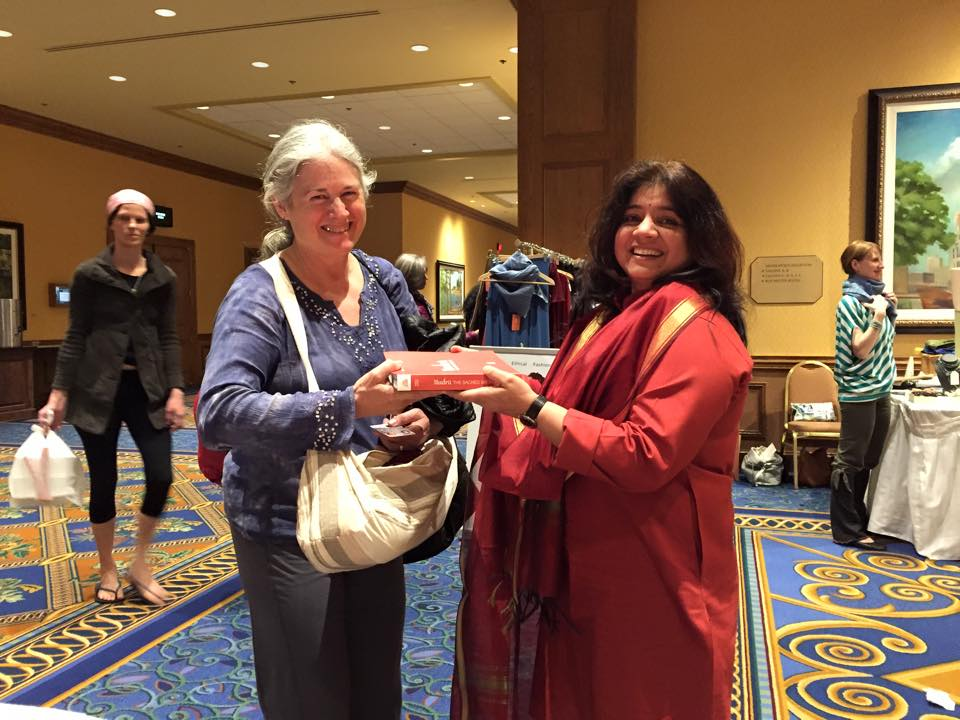 April & Dr.  Indu Arora at the Minneapolis Yoga Conference